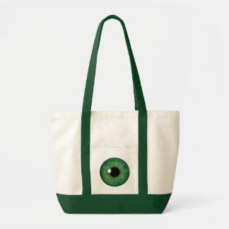Green Eye Iris Impulse Cool Custom Tote Bags Canvas Bag