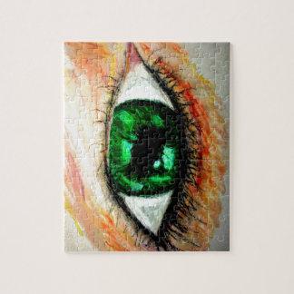 Green Eye Jigsaw Puzzle