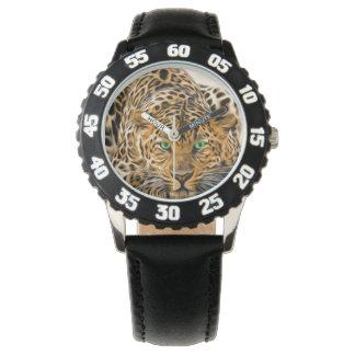 Green Eye Leopard Watch