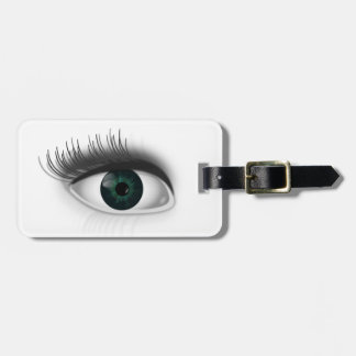Green eye. luggage tag