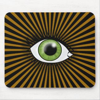 Green Eye of Horus Mouse Pad
