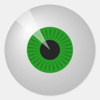 Green Eye Round Sticker