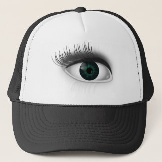 Green eye. trucker hat