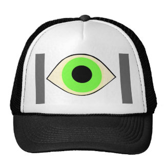 Green eye trucker hat