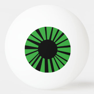 Green Eye with Black Pupil on White Eyeball Ping Pong Ball