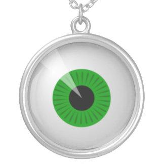 Green Eyeball Necklace