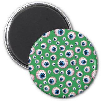Green eyeball pattern magnets
