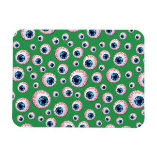 Green eyeball pattern rectangle magnet