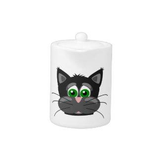 Green-eyed black Cat