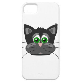 Green-eyed black Cat iPhone 5 Case