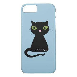 Green-Eyed Black Cat iPhone 7 Case