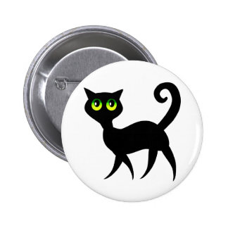 Green Eyed Cat 6 Cm Round Badge