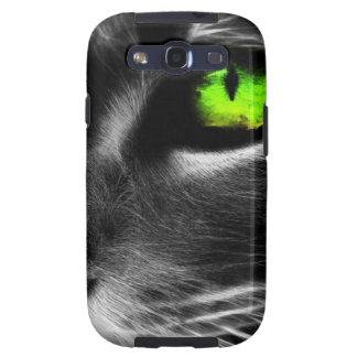 Green eyed cat samsung galaxy s3 cover