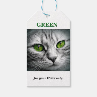 green eyed cat gift tags