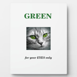 green eyed cat plaque