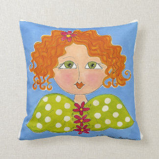 Green Eyed Daisy Girl ~ American MoJo Pillow