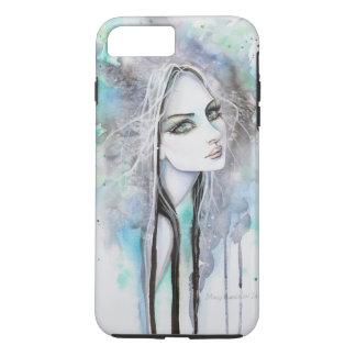 Green Eyed Ghost Watercolor Modern Art Portrait iPhone 7 Plus Case