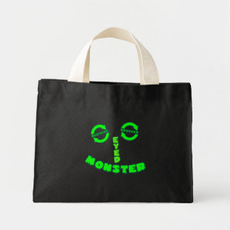 Green Eyed Monster Canvas Bag