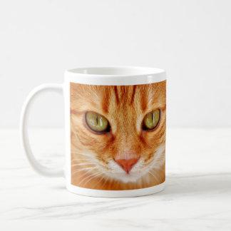 Green Eyed Orange Tiger Cat Coffee Mug