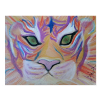 Green Eyed Tiger Spirit Postcard