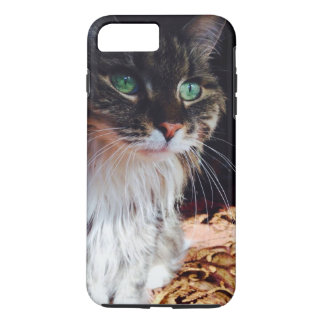 Green Eyed Wonder Kitty staring phone case