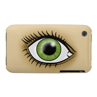Green Eyes icon iPhone 3 Case
