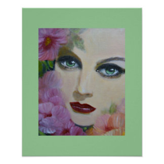 Green Eyes, vintage lady poster