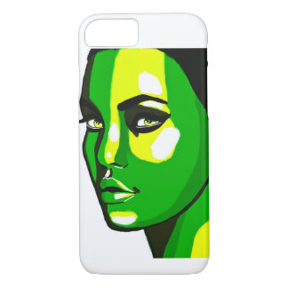 Green Face iPhone 7 Case