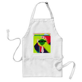 Green face standard apron