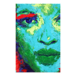 Green Face Stationery