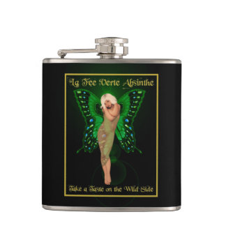 Green Fairy Absinthe Hip Flask