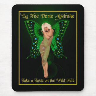 Green Fairy Absinthe Mouse Pad