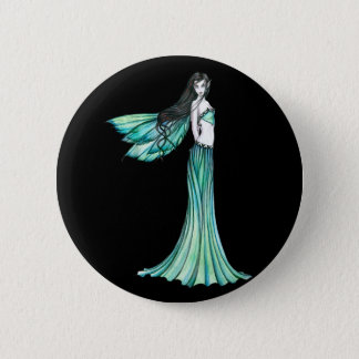 Green Fairy Button Pin
