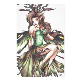 green fairy personalised stationery