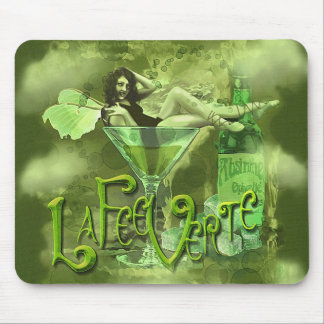 Green Fairy Splashy Collage I Mouse Pad