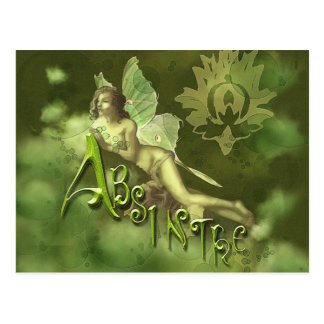 Green Fairy Splashy Collage II Postcard