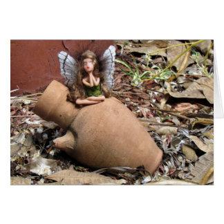 Green Fairy with Magic Pot Card