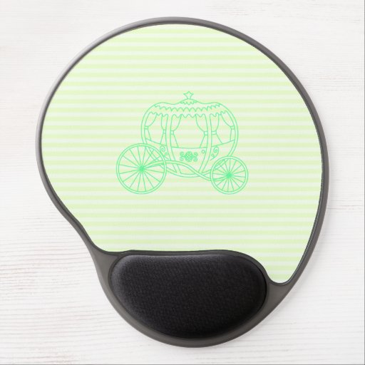 Green Fairytale Carriage Gel Mousepads