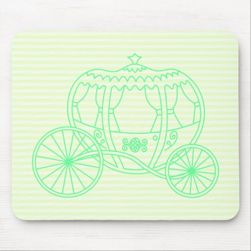 Green Fairytale Carriage Mouse Pad