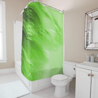 Green Falling Lites Shower Curtain