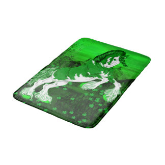 Green Fantasy Clydesdale Horse Bath Mat