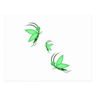 Green Faries Postcard