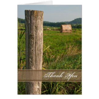 Green Farm Pastures Country Thank You Card