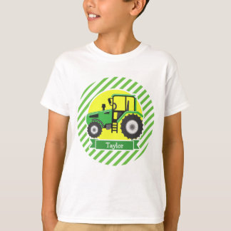 Green Farm Tractor with Yellow;  Green & White T-Shirt