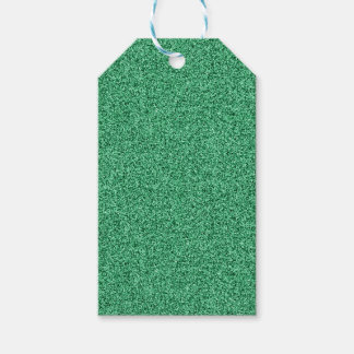 Green faux glitter gift tags