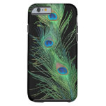 Green Feathers with Black Tough iPhone 6 Case