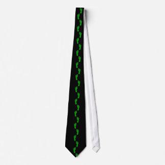 Green Feet Tie