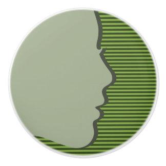 Green Female Silhouette Design - Drawer Knob