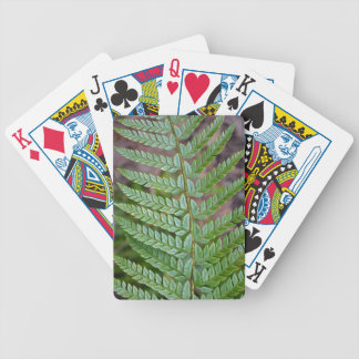 Green fern leaf pattern bicycle playing cards