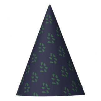 Green Fern Lucky Pattern Paper Hat Cap